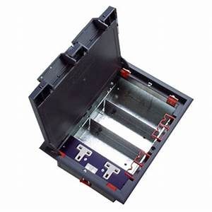 4 way lj6c data plate for 4 compartment floor box comms With 4 compartment floor box