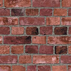 The Wallpaper Company 8 in. x 10 in. Red Brick Wallpaper ...