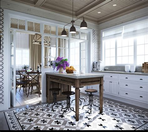 patterned tiles for kitchen 2 provence style apartment designs with floor plans 4108