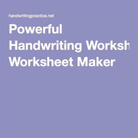 powerful handwriting worksheet maker  images