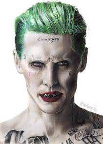 Jared Leto as Suicide Squad Joker Drawings