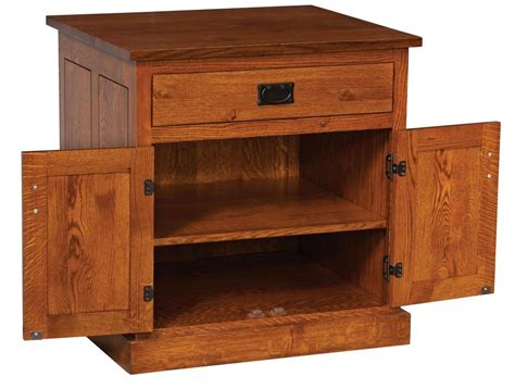 Solid Oak Gun Cabinet by Carriage Mission Printer Stand Amish Furniture Store