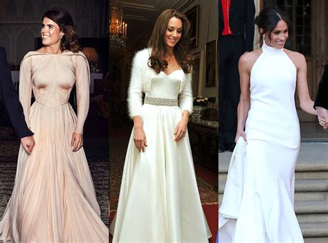 How Princess Eugenie's Wedding Evening Dress Compares To
