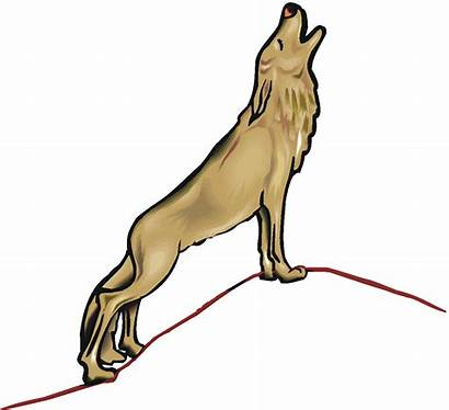 Wolf Howling Clipart Clip Cartoon Cliparts Howl