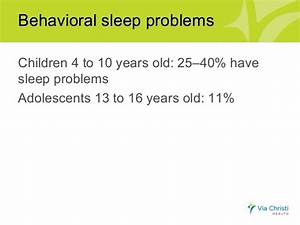 Sleep problems in children and teens