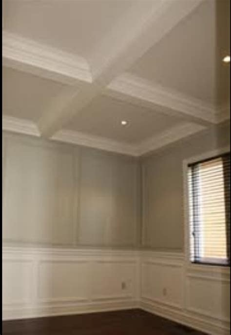 coffered ceiling wainscoting wainscoting bedroom
