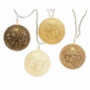 Boule Lumineuse Guirlande : guirlande lumineuse boules de coton blanc chaud 24 led ~ Teatrodelosmanantiales.com Idées de Décoration