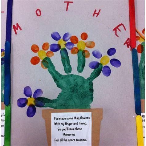 handprint pot fingerprint flowers mothers day crafts