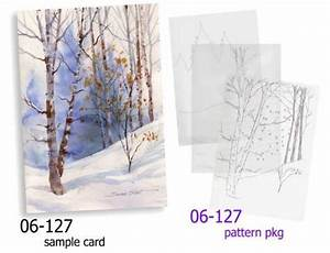 Christmas Card Patterns Winter Landscape Holiday Greeting