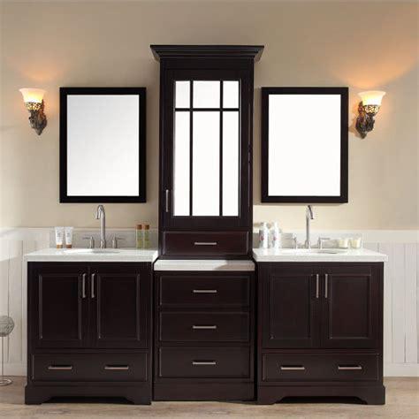bathroom vanity with tall cabinet stafford bathroom vanity with tall mirrored medicine