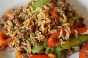 Ramen Noodles with Ground Beef