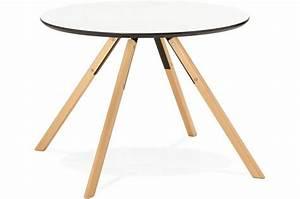 Table A Manger Ronde Blanche : table manger ronde blanche d100 fare design sur sofactory ~ Teatrodelosmanantiales.com Idées de Décoration
