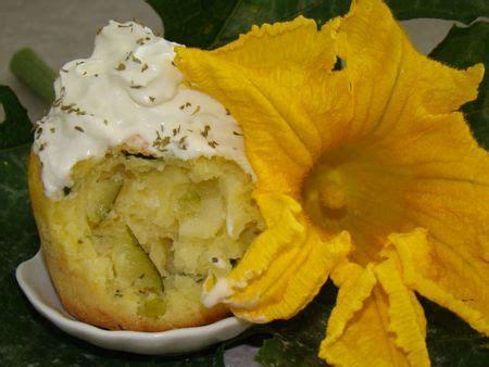recette cupcakes sales courgettes philadelphia