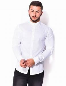 Chemise Homme Motif Original : chemise homme col mao motifs jeans industry ~ Nature-et-papiers.com Idées de Décoration