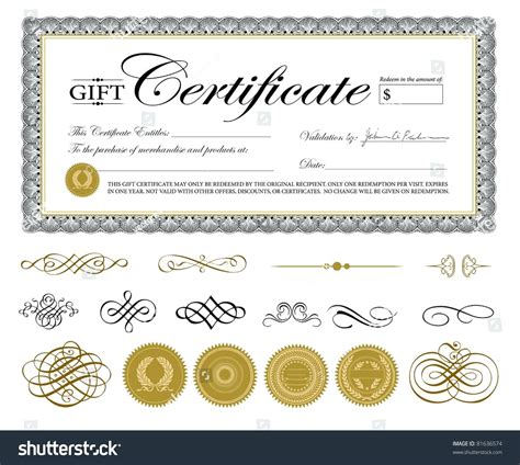 Gift Certificate Template Template Editable Gift Certificate Template
