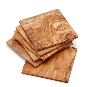 Olive wood coasters, six pack set   NATUREHOME