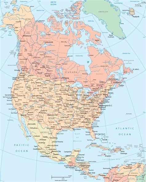 north america map political