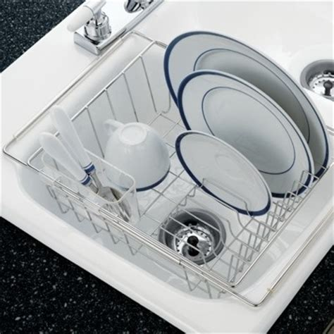 in sink dish drying rack stainless steel in sink dish drainer for the home
