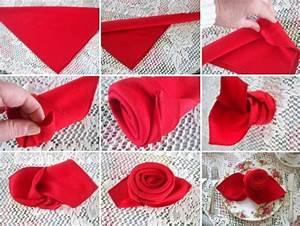 Rose Aus Serviette Drehen : pliage serviette en tissu ou papier pour une occasion sp ciale ~ Frokenaadalensverden.com Haus und Dekorationen