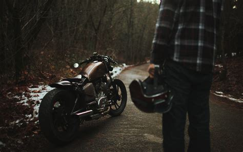 Landscapes, Vehicles, Motorbikes, Helmets, Guy, Bobber