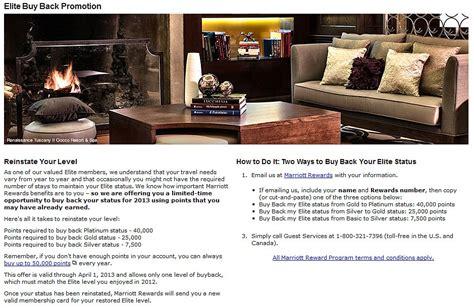 marriott platinum elite phone number marriott elite buy back promotion 2013 buy back your