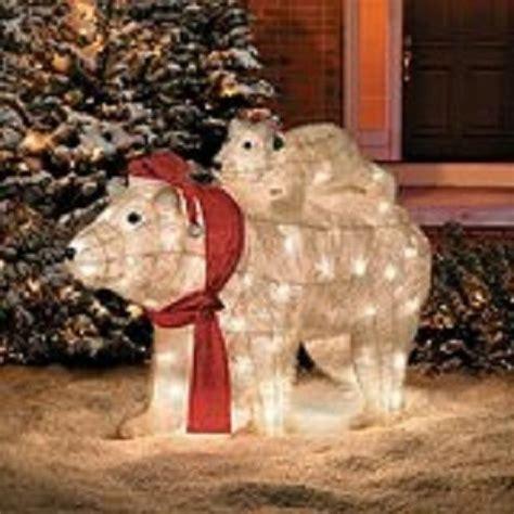 lighted pre lit christmas polar bear sculpture outdoor