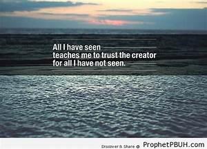 Trust the Creat... Allah Tawakkul Quotes