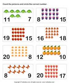 Math Worksheets Pre-K Number