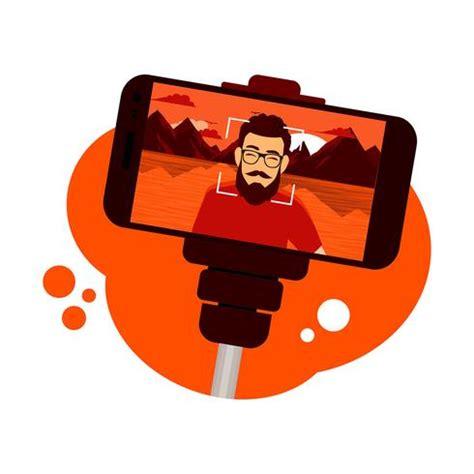 selfie stick vector free vector stock graphics