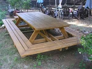 Custom Made Picnic Tables Large Thru-Bolt Picnic Tables