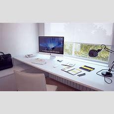 Built In White Desk  Interior Design Ideas