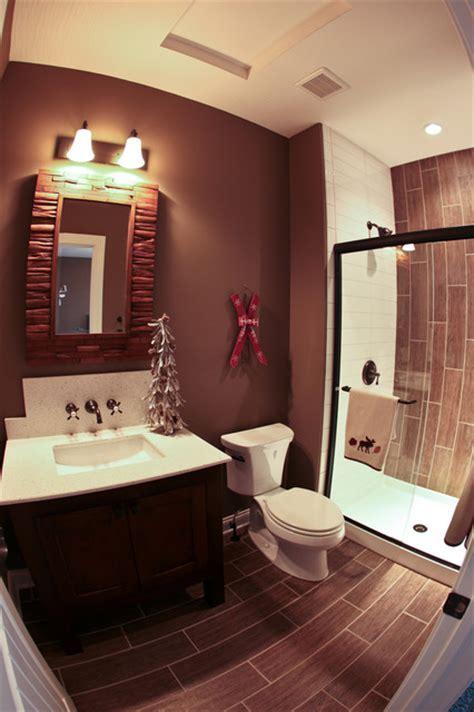 ski lodge themed bathroom rustic bathroom dublin
