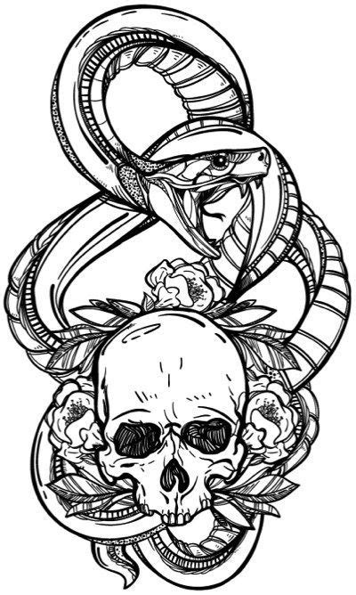 Skull Coloring Book for Adults: Detailed Designs for Stress Relief | Creative Tattoo Sleeves