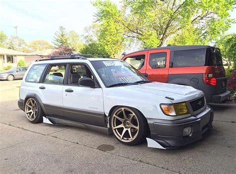 subaru forester modified lowered slammed stance