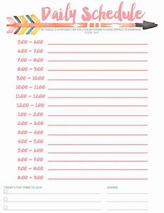 7 daily schedule templates excel pdf formats With daily activity schedule template