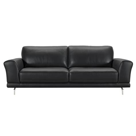 contemporary black leather sofa black leather contemporary sofa excellent black leather