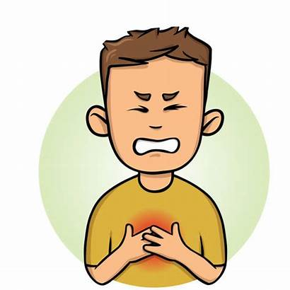 Chest Pain Vector Angina Heart Attack Illustrations