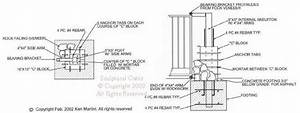 cross section of a double swing driveway gate with columns With driveway gate plan view diagrams drawings electric gate layouts