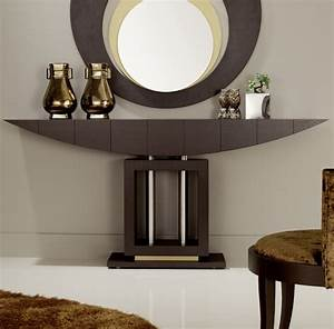 Hallway Furniture: Modern Narrow Console Table With Mirror
