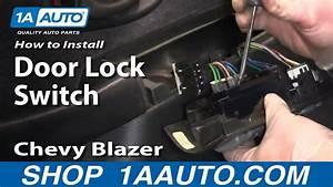How To Replace Power Window  U0026 Door Lock Switch 95