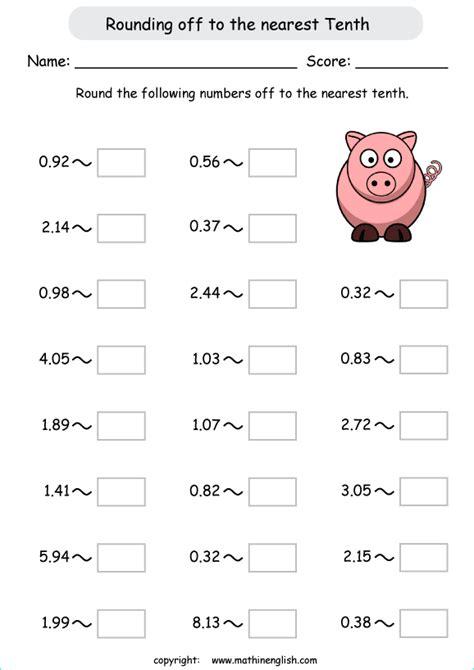 decimals    nearest tenths math grade