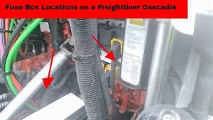 Fuse Box Locations On A Freightliner Cascadia For Light