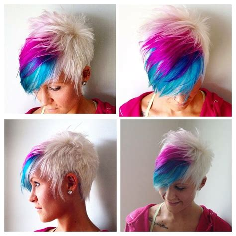 colorful short haircuts  haircut web