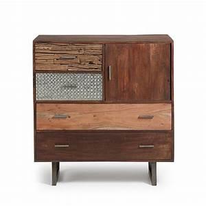 Commode En Bois : commode design en bois de manguier finitions m tal liam by drawer ~ Teatrodelosmanantiales.com Idées de Décoration
