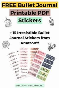 15 irresistible bullet journal stickers plus free