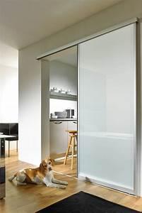 Schiebetür Glas Bauhaus : glasschiebet r mit aluminiumrahmen und milchglas ~ Watch28wear.com Haus und Dekorationen