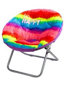 faux fur rainbow saucer chair from justice