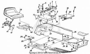Mtd 14as84ah062  1997  Parts Diagram For Seat And Throttle
