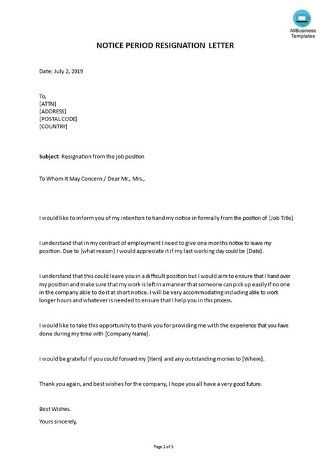 Resignation Letter Template 2 Month Notice 2 Reasons Why People Like Resignation Letter Temp