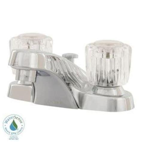 glacier bay 4 in 2 handle low arc bathroom faucet with